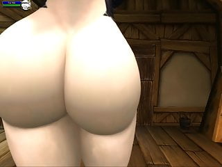 Elf pussy Wow sexy pale night elf shakes her ass for your cum