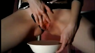 Slut Spitting and Drinking Piss-Laura Fatalle