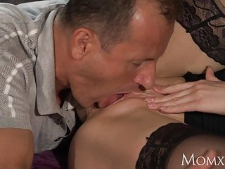 Hard cock wanted - Mom office woman in stockings wants rock hard cock