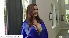Naughty America Mrs. Culver showers with and fucks