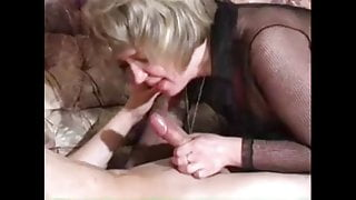 Granny sextape full bodystocking with young cock