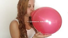 Balloon Fetish - Casey Blowing Balloons Video 1