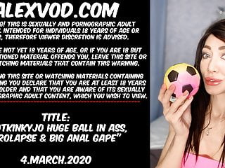Pool ball in ass - Hotkinkyjo huge ball in ass, prolapse big anal gape