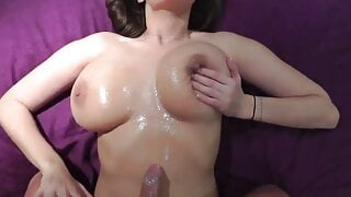 Sensual Jane cum on tits
