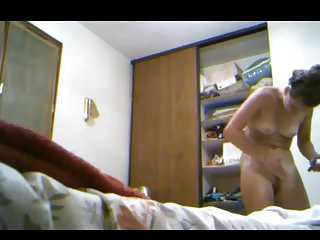 Nude adolescent beauty - Beautiful and nude in the bedroom hidden cam clip