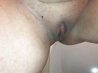 Toilet or potty or pee or bathroom - German wife pissing on the toilet, milf pissing, peeing