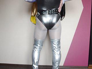 News bikini line accident - New silver long high heels