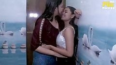 Desi lesbian making love