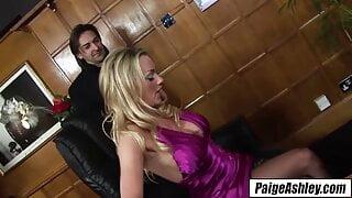 Paige Ashley – big titty secretary takes 2 dicks at work