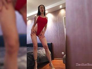 Pussy huge Beautiful girl masturbate pussy huge dildo after work