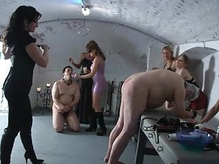 Cock whipping show party Big femdom party part 8