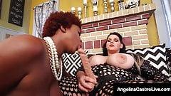 Plump Pussy Fucker Angelina Castro Bangs Black BBW Maserati!