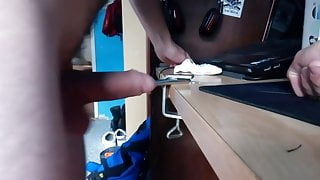 Fucking my rod with a metal rod