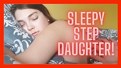 Pretty stepdaughter awoken to facial