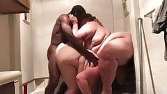 Interracial BBW Threesome