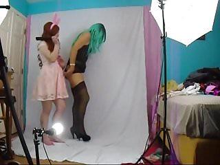 Steps in feminizing a mkan femdom Feminized sissy gets spanked by mistress