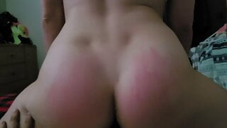 footjob tease with ass and reverse cowgirl
