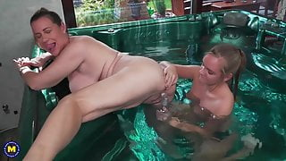 Step Mom and daughter sex in jacuzzi