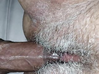 Pulled her clit hood back Dacaptainandmimosa creampie her hairy pussy back 2 back pov