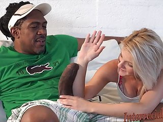 Worldest biggest breast - Small blonde takes biggest black cock