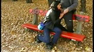 Slut Wife blowjob by Strangers in Park