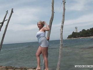 Malina velba big tit archives - Busty teen malina get wetting in waves