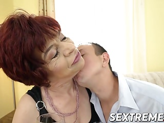 Donatella delicious tv escort - Lusty granny donatella loves riding a horny dudes hard cock