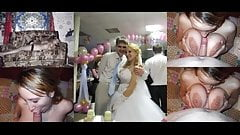 married wives wedding dress compilation before during after