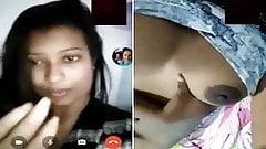 Indian desi hot bhabhi fingering on selfie video