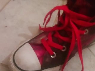 My half sister is a porn star nasty slut former - All star converse shoes, not of my sister shoesjob footjob
