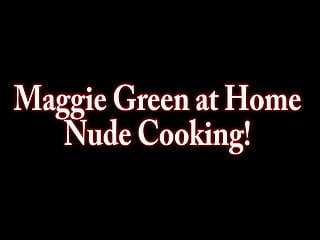 Maggie grace nude pic - Nude busty chef maggie green cums in kitchen
