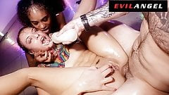 EvilAngel - Gia & Scarlit Get Sloppy & Oily Ass Fucking