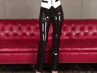 Washington dc vintage tuxedo rentals - Natasha latex tuxedo outfit