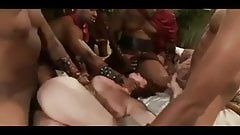 Roman queen gets brutal bbc gangbang part 1