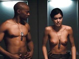Tube trooper tits - Cecile breccia, tanya van graan - starship troopers 3