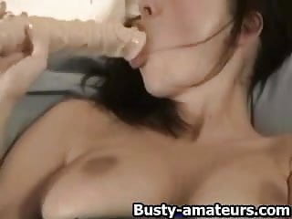 Yurizan toying her pussy - Gianna toying her pussy with giant dildo