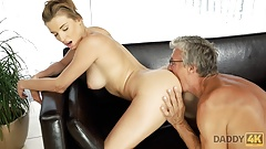 DADDY4K. Victoria Daniels likes to swim in huge pool