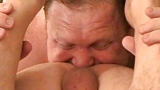 Chubby Bear Eats Ass Like A MASTER