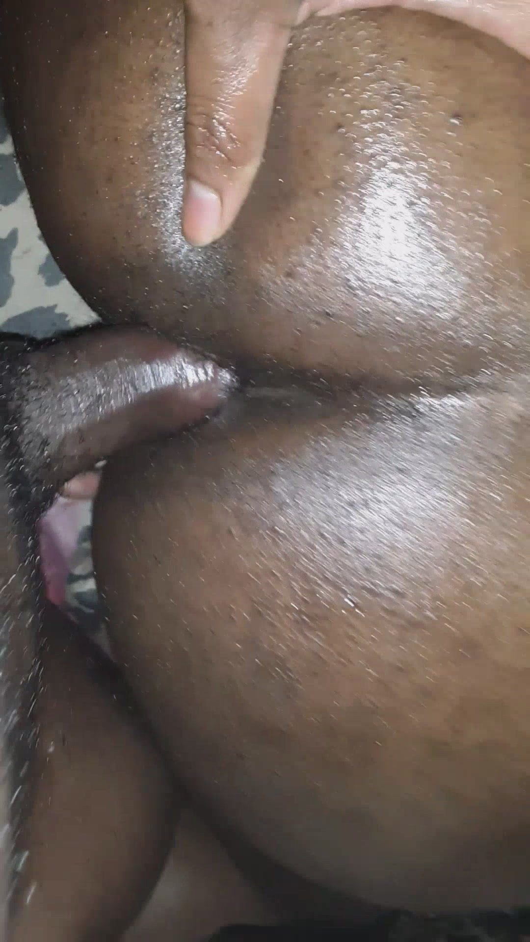 Ass black meat