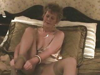 Sexy old lady sex pics - Old lady, stockings dildo masturbation