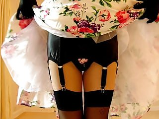 Free 1950 s homemade porn videos 1950s flower dress and black underwear