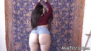 Round ass lady Alycia Starr slammed after sucking