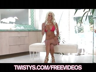 Brunette busty twistys Twistys - busty blonde bikini babe plays with her new dildo