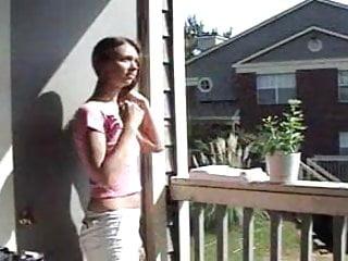 Young teasing teen Young girl teasing her neighbor