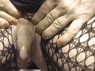Clitoris in action - Colette and her enormous erect clitoris