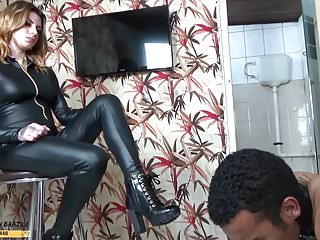 Foot domination and spanking - Female domination spanking toilet humiliation by mrs redhead