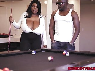 Huge tits gang bangs - Bubble butt ebony shows off huge tits before bbc banging