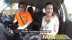 Fake Driving School Messy creampie advanced lesson