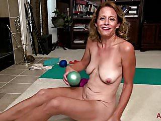 Jade Allan Yoga And Masturbation On Allover