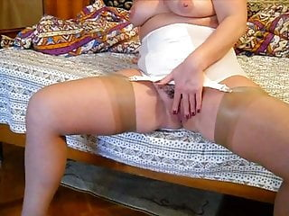 White bottom boy Pushuna white open bottom girdle wide open hips plaing pussy
